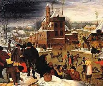 """Townsfolk in Winter"", by Pieter the Elde Brueghel"